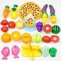 24 pçs/set corte de plástico de frutas legumes cozinha toys desenvolvimento precoce e educação brinquedo para o bebê crianças crianças