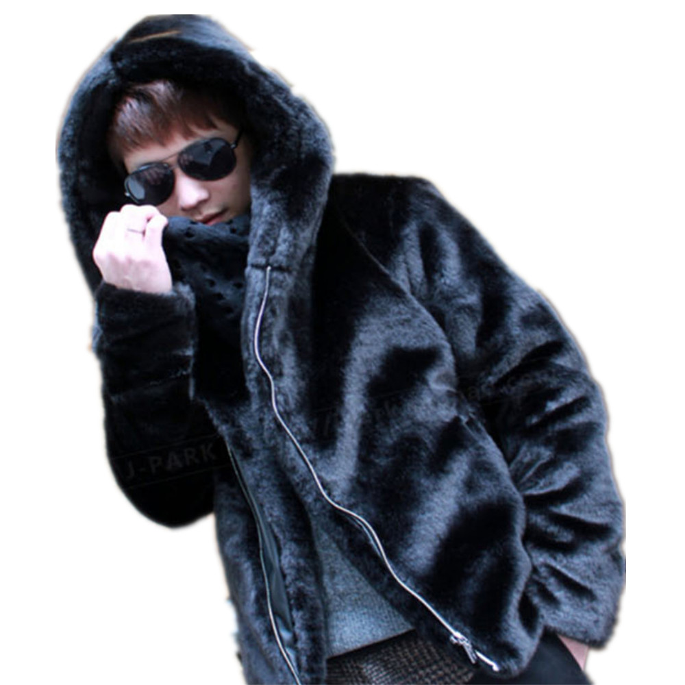Popular Black Mink Coats Men-Buy Cheap Black Mink Coats Men lots ...