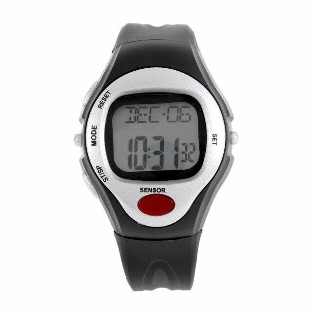 Пульс сердцебиение монитор Счетчик калорий Фитнес часы Цифровые наручные часы календарь Дисплей Время Часы Секундомер Будильник A43