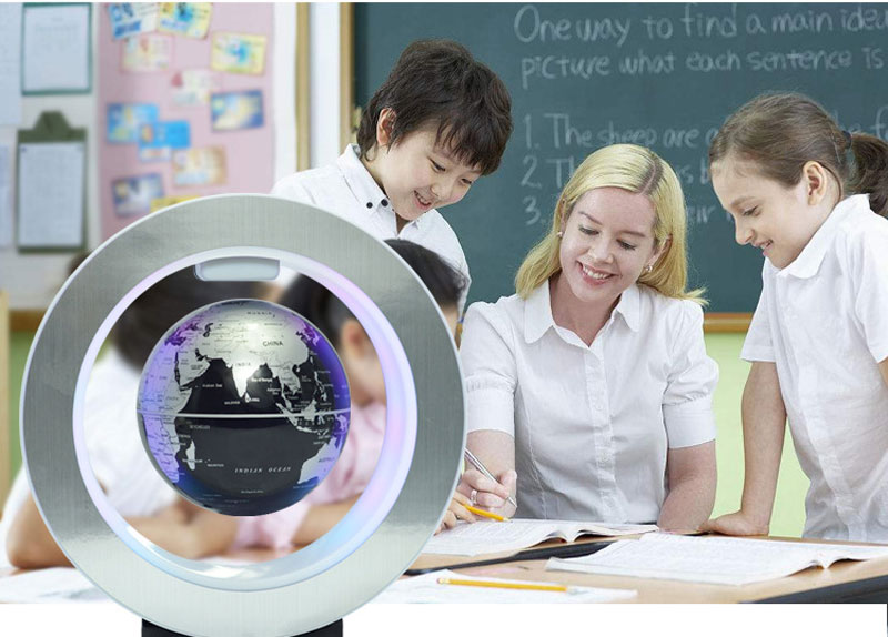 Magnetic Levitation Novelty Round LED World Map Globe Lamp Luminous Rotation Display Antigravity MagicDec Plasma Ball Light (6)
