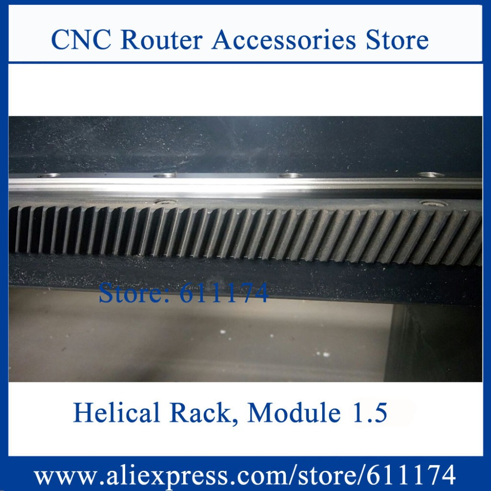High Precision Helical Gear Rack And Pinion, Right Handle Helical Rack Gear Module 1.5 Size 22*25*1000mm Helical Teeth Rack