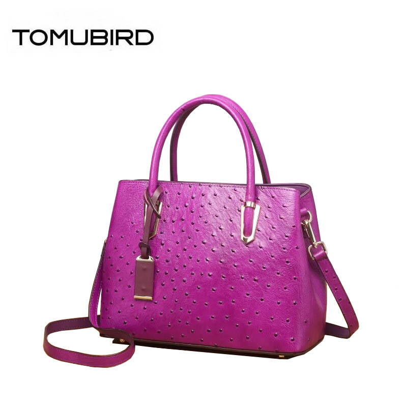 TOMUBIRD New women genuine leather bag cowhide famous brand women bag fashion big capacity Ostrich-embossed tote women handbags