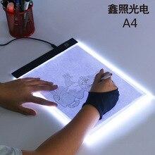 LED אור תיבת A4 ציור לוח גרפי כתיבה דיגיטלי Tracer עותק כרית לוח עבור יהלומי ציור סקיצה X ray הצופה Artcraft תיקון ריינסטון
