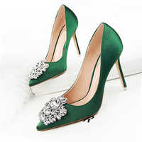 BIGTREE New Women Pumps Women Shoes Wedding Shoes Sexy High Heels Women Casual Shoes Women Fashion Crystal Bling Ladies Shoes