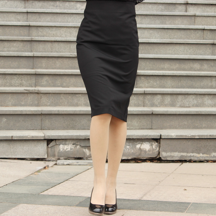 a1344b3b1 Women High Waist White/Black Pencil Wrap Skirt Split Skirts Knee Length OL  Work Wear Plus Size-in Skirts from Women's Clothing on Aliexpress.com |  Alibaba ...