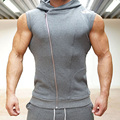 Men Cotton Hoodie Sweatshirts fitness clothes bodybuilding tank top men Sleeveless Tees Shirt Casual golds Casual Elastic vest