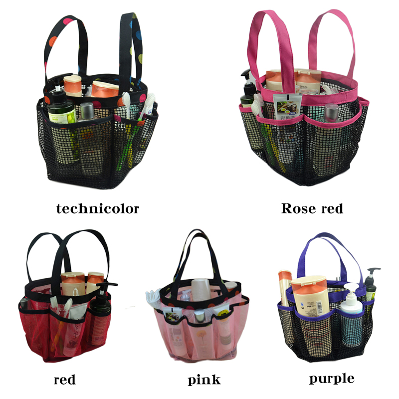 For Gym Portable Quick Dry Mesh Shower Caddy Shower Storage Bag With ...