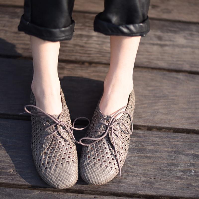 Здесь можно купить   Artmu Hollow Out Woman Shoes Female Shoes Handmade Leather Shoes Vintage Women Genuine Leather Vintage Fashion Обувь