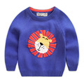 Boy sweater outerwear 2016 autumn children's clothing baby sweater child pullover sweater u1742