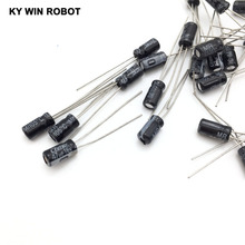 50pcs/lot 47UF 16V 10mf 105C 4X7mm Aluminum Electrolytic Capacitor 16V47UF radial lead 50pcs