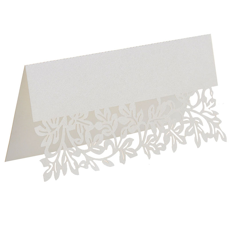 50pcs/lot Laser Cut Leaf Table Name Cards Place Cards Guest Names Mark Cards Wedding Party Table Decoration Wedding Favors 50 butterflies laser cut name place cards wedding guest table cards wedding card birthday party table cards invitations wn0274