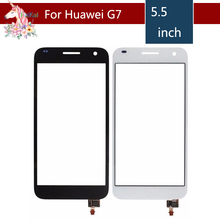 5.5 For Huawei Ascend G7 LCD Touch Screen Digitizer Sensor Outer Glass Lens Panel Replacement 5 0 for zte blade a315 lcd touch screen digitizer sensor outer glass lens panel replacement