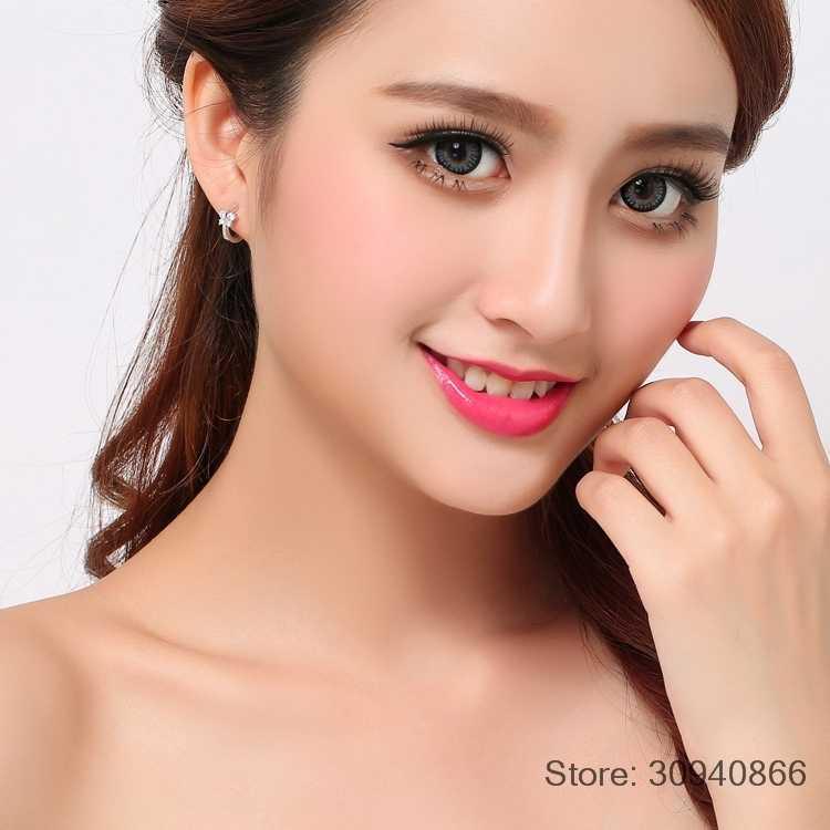 เจ้าหญิง 925 เงินผีเสื้อ Zirconia ขนาดเล็ก Hoop ต่างหูสำหรับสาวเด็กผู้หญิงสวย Aros Huggies ต่างหูเครื่องประดับ