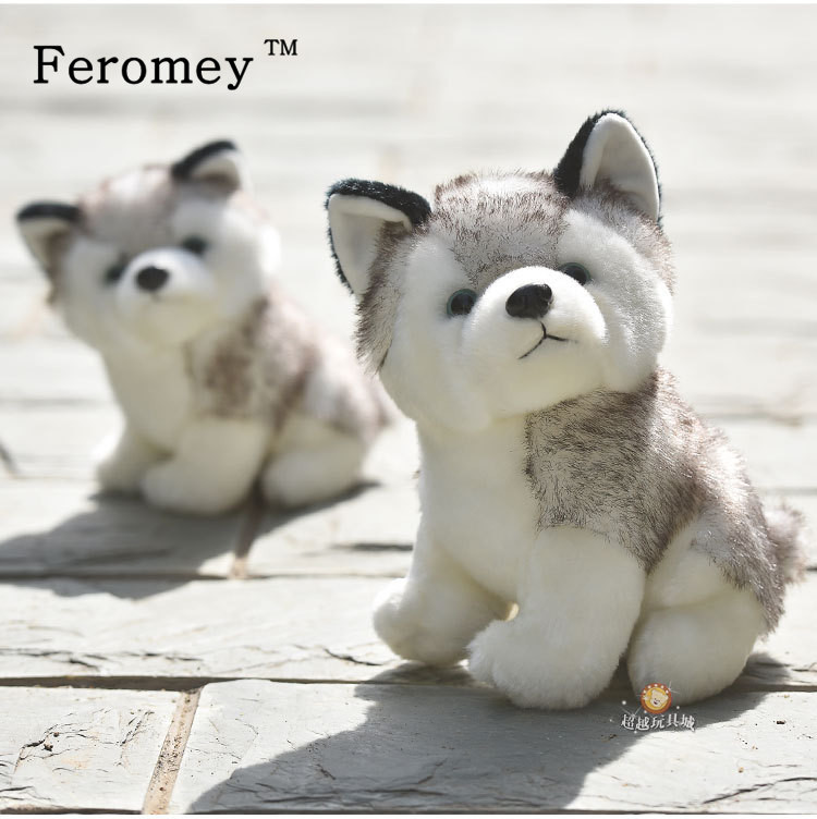 Kawaii Puppy Stuffed Toys 10/20cm Cute Simulation Husky Dog Plush Toys Stuffed Doll Kids Baby Toys Plush Husky Dolls cute simulation fox plush toys kids appease doll gifts