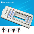PALO Brand 8 Slots LED Light Smart Battery Charger For NI-MH NI-CD AA AAA Rechargeable Batteries P10 Quick Charger