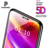 Pour LG G7 protecteur d'écran 5D Phenvel 9H oléophobe manteau verre trempé pour LG G7 Thinq Q9 un G7 Fit couverture complète film de protection