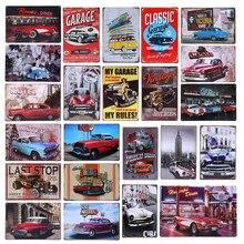 Retro Cuba marca signos Motel 66 París cena Vintage decoración de pared placa para Bar garaje estación de Gas regalo cartel Metal YN116