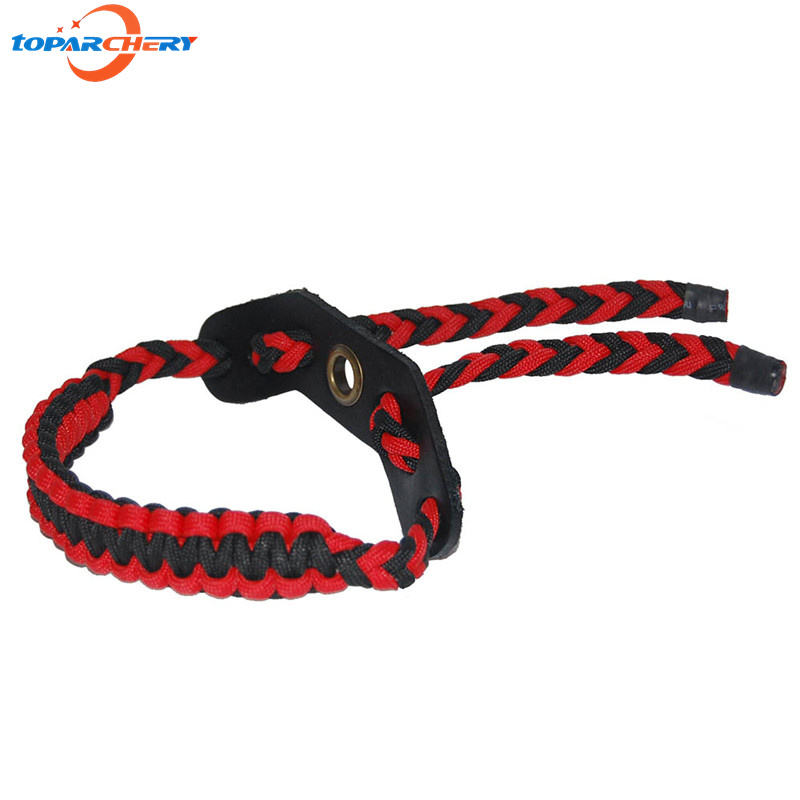 Archery compound bow adjustable braided cordbow wrist sling strap for/&shootingMF