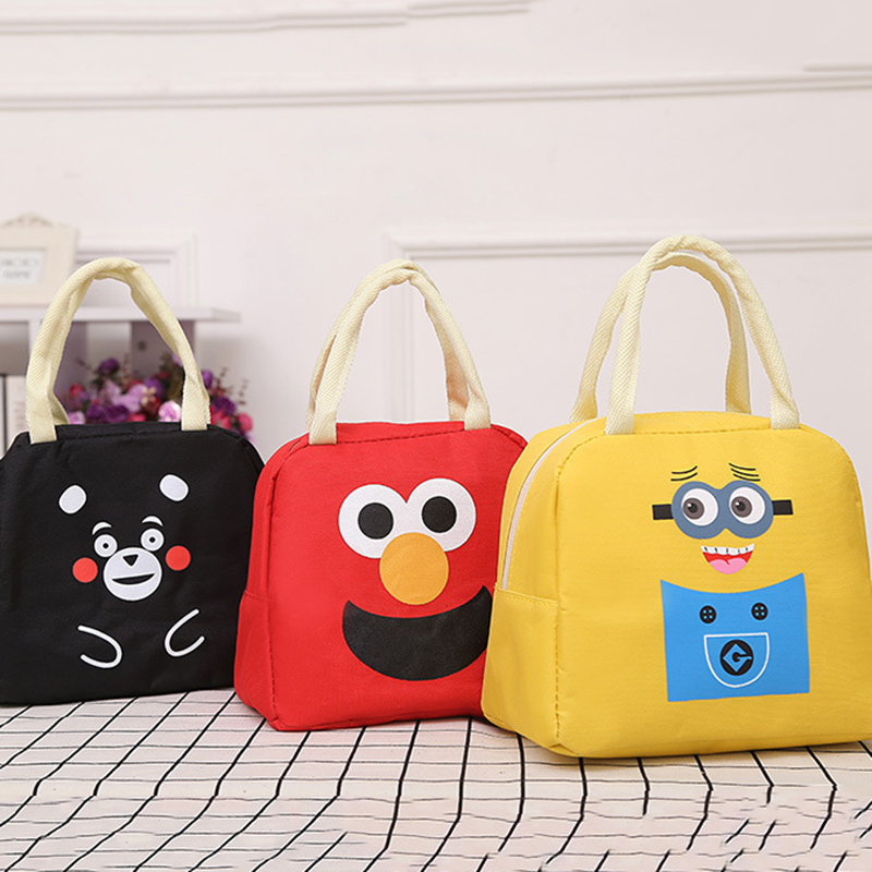 Keythemelife Cartoon Cute Lunch Bag Portable Insulated Cold Picnic Totes Carry Case For Kids Women Thermal Bag B