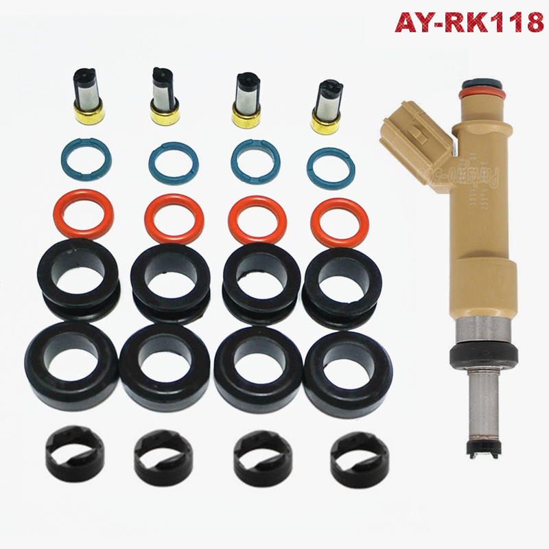 4pcs 23250-37010 fuel injector for Toyota Auris high impedance flow matched
