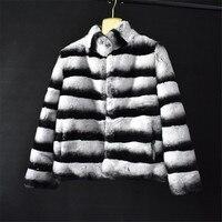 2018 женская короткая куртка натуральный мех кролика пальто кроличий мех трава Лисий мех натуральный мех повседневные стильные теплые high street