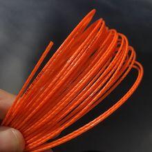 1 шт., Альфа бамбуковая полиэфирная Теннисная ракетка, прочная Теннисная ракетка, струна 1,25 мм, 12 м/катушка оранжевого цвета