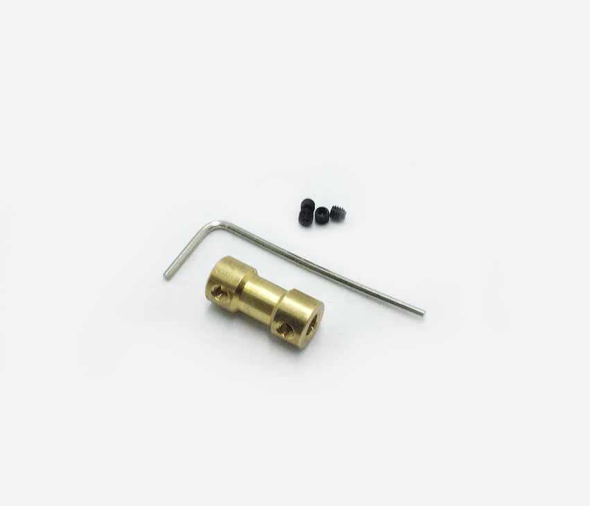 ทองแดงข้อต่อเพลามอเตอร์เพลาข้อต่อ 2/2.3/3/4/5/6Mm To 2/2.3/3/3 17/4/5/6 มม.สำหรับรถเรือRCหุ่นยนต์
