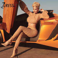 INDRESSME 2019 Fashion Turtleneck Sexy Fashion Pant Suits Set Long Sleeve Mesh Ruched Top Women 2 Pieces Bodycon Pant Sets