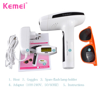 KM 6812 Lasting Painless Laser Epilator Photon Hair Removal Instrument Machine Shaving And Hair Removal Lady