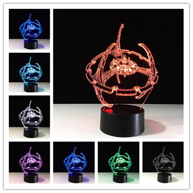 Star Wars Lamp 3D LED Licht Master Yoda Jedi Kleurverandering LED ...