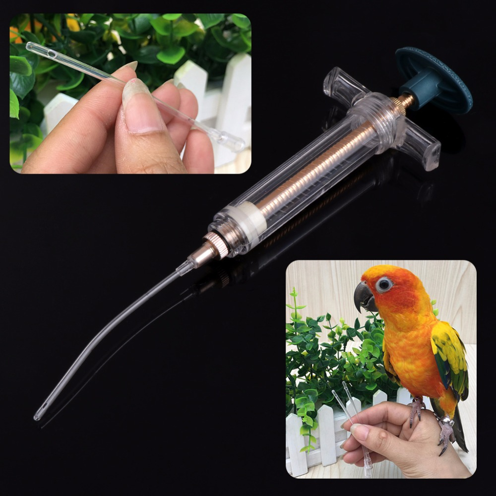 1 Pc 10ml/20ml Parrots Bird Feeding Syringe Epidemic Prevention Treatment Injector Canary Finch Tubing 2/3/4mm Bird Feeders C42