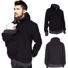 Зимние хлопковые куртки-кенгуру для папы; Одежда для беременных; пальто для папы; толстовки с капюшоном; одежда для переноски; свитер для младенцев; размеры S-2XL
