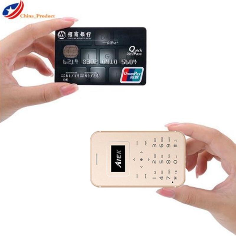 AIEK X8 Ultra Thin Card Mini Pocket Mobile Phone Low Radiation Bluetooth Dialer Students Children Phone Celular PK X6 M5 X7 S10