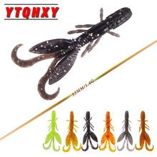 YTQHXY 12pcs/lot Soft Shrimp Fishing Lure Pesca Isca Artificial Wobblers 55mm 1.4g Silicone soft bait Fly Fishing Tackle YE-79