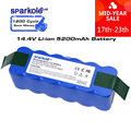 Sparkole 5.2Ah 14,4 V Батарея Li-Ion Батарея для irobot Roomba 500 600 700 800 серии с импортированными ячейками 510 530 620 650 770 780 880