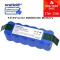 Sparkole 5.2Ah 14,4 V Batterie Li-Ion Akku für irobot Roomba 500 600 700 800 Serie Importierte zellen 510 530 620 650 770 780 880