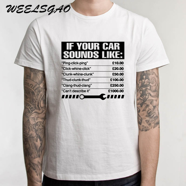7ef3ed685 If Your Car Sounds Like Mens Funny Mechanic T-Shirt Birthday Gift for Dad  Cotton Fashion T Shirt Top Tee