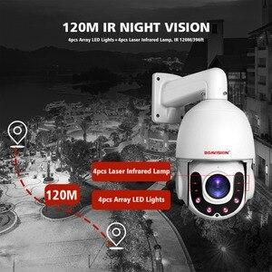 Image 3 - 4MP 5MP PTZ IP كاميرا 1080P في الهواء الطلق ONVIF 30X التكبير مقاوم للماء IP66 سرعة صغيرة كاميرا بشكل قبة H.264 IR 120M CCTV كاميرا الأمن
