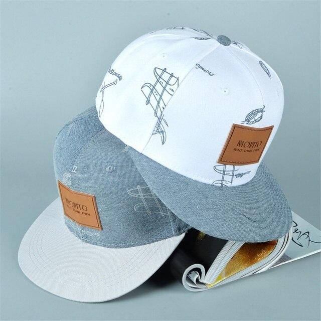 dae4e3ecebb87 De algodón de moda sombrero de vaquero cartas pegatinas de hip-hop gorra de  béisbol