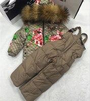 2018 зимнее пальто Костюмы От 2 до 10 лет костюм для мальчиков пуховик для Одежда для девочек детей Костюмы верхняя одежда зимняя куртка пальто
