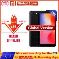Global Version Xiaomi Redmi 6 3GB 32GB Mobile Phone Helio P22 Octa Core 5.45 18:9 Full Screen 12.0MP+5.0MP 3000mAh