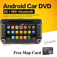 """7 """"pojemnościowy ekran dotykowy Android 6.0 Samochód DVD GPS wbudowane wifi dla VW Volkswagen POLO PASSAT B6 Golf 5 6 Skoda Octavia"""