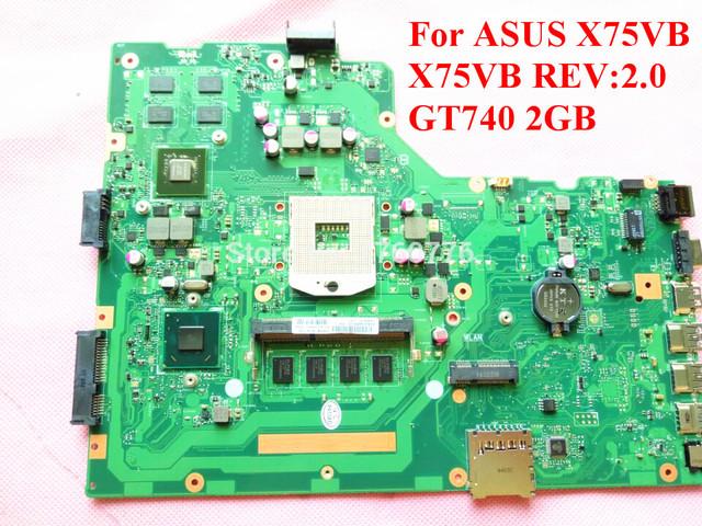 Para asus x75vb laptop motherboard gt740 2 gb x75vb rev: 2.0 100% testado navio rápido