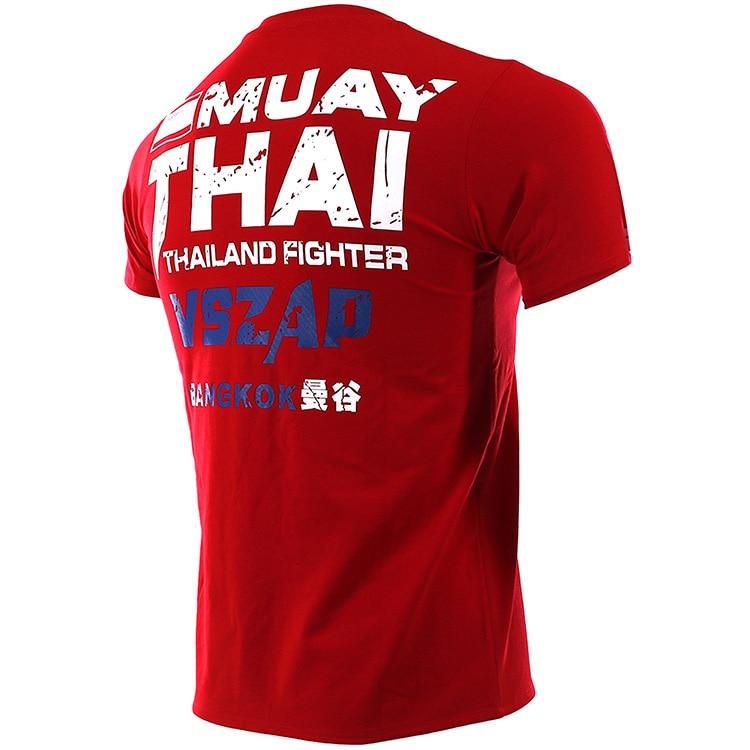 homens de manga curta T-camisa de combate aptidão de artes marciais