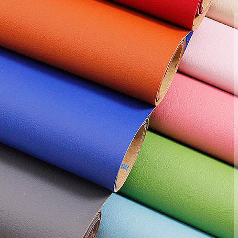 0.5 Meter Self Adhesive Synthetic Pvc Leather Fabric Seat Upholstery Fabric Furniture Tela Cuero Tissus Factory Direct Material