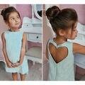 Малышей Детей Новорожденных Девочек Летом Элегантное Платье Без Рукавов Принцесса Партии Pageant Платья
