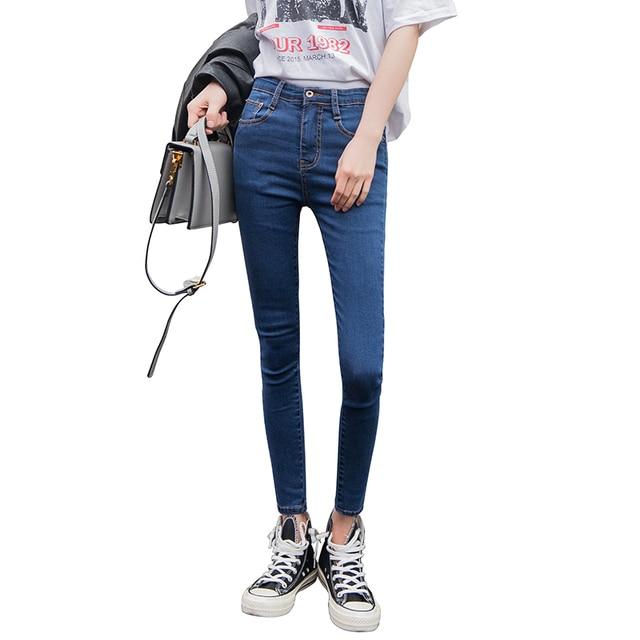 Ship from Russia jeans women Black jeans High Waist Denim women pants high elastic Skinny Pencil Stretch Women Jeans