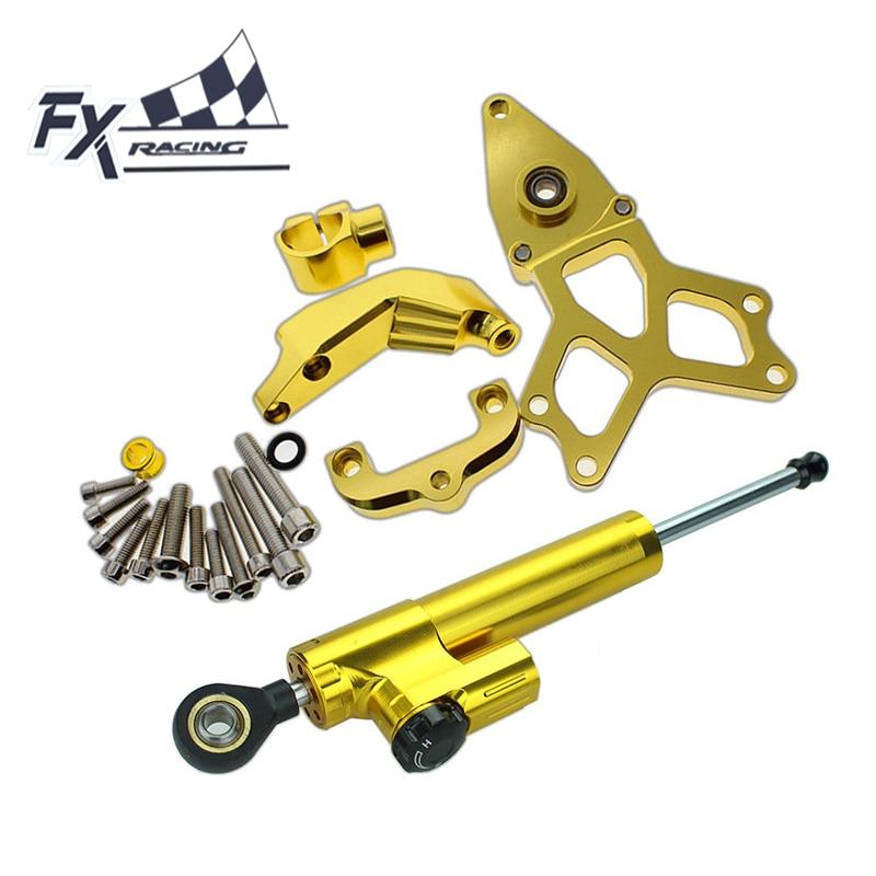 FX Aluminum Motorcycle Steering Stabilizer Damper Mounting Bracket Complete Set For HONDA CBR1000 2008-2014 2009 2010 2011 2012