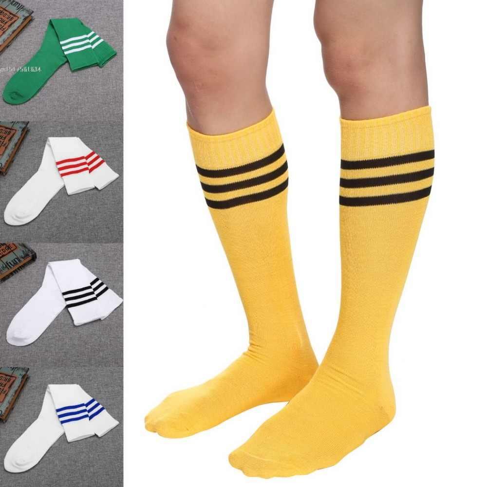d40717f5db3 Detail Feedback Questions about Football Knee high Striped Socks Classic  Natural Color Socks Men Elastic Socks Women Stockings on Aliexpress.com