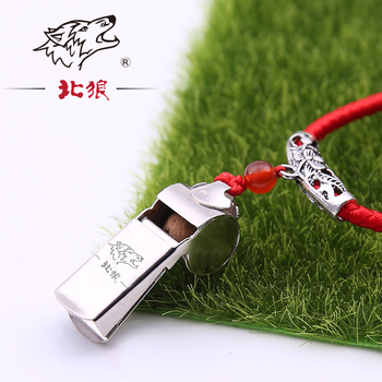 Top Professional metal outdoor survival whistle Match Cheerleading Party Whistles and laser name cartoon with lanyard